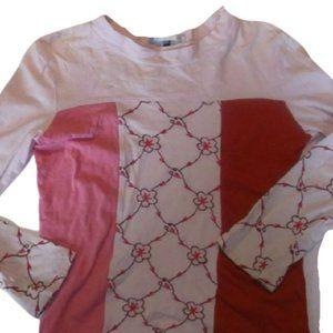 Deux par Deux Pink Red Shirt Girl Size 10